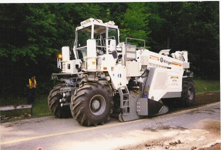 road reclamation machine